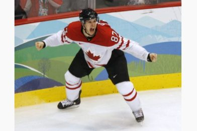 "Sidney Crosby after scoring the ""Golden Goal"" (Paul Chiasson / The Canadian Press)"